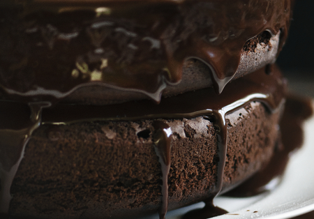 Chocolate cake food photography recipe idea Фото со стока