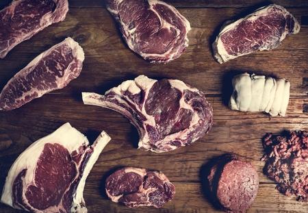 Cuts of beef food photography recipe idea