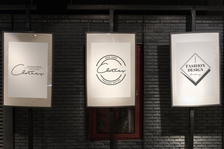 Posters in a gallery mockup