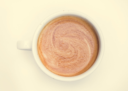Aerial view of hot coffee Standard-Bild