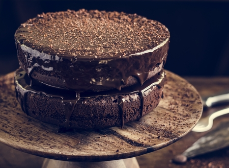 Chocolate cake food photography recipe idea Imagens