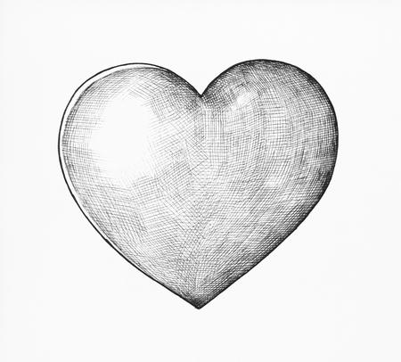 Hand-drawn heart illustration