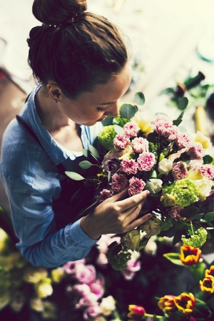 Woman working as a florist