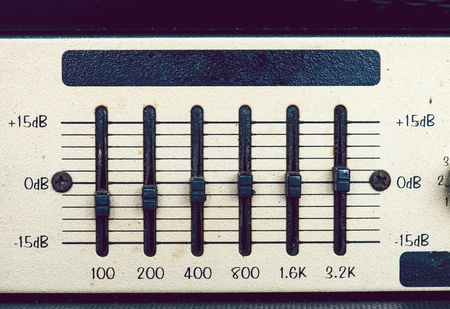 Closeup of a music equalizer Stok Fotoğraf