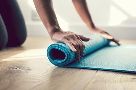 Girl at a yoga class