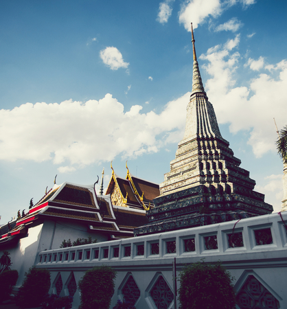 Wat phra kaew in Bangkok Thailand Stock Photo