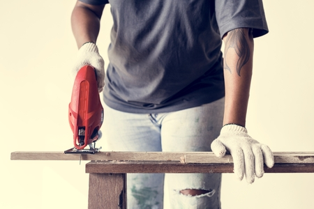 People renovating the house concept Banque d'images - 110449626