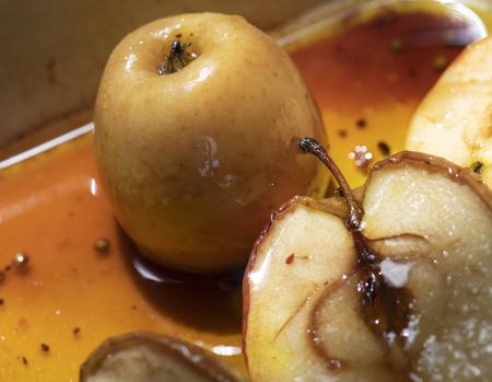 Roasted apples food photograpy recipe idea Stock Photo