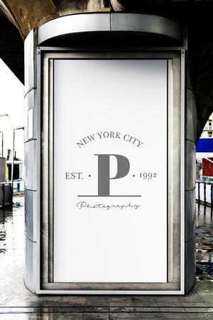 Billboard display in a city mockup
