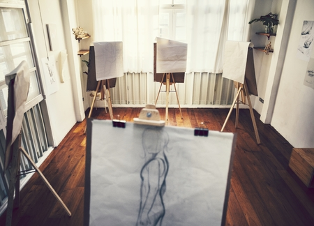Drawing class in a studio