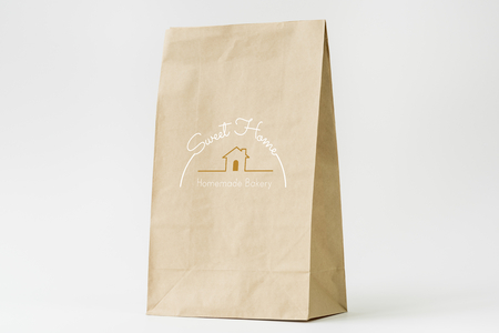 Natural paper bag branding mockup Stock Photo - 110451265