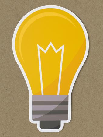 Creative light bulb icon isolated