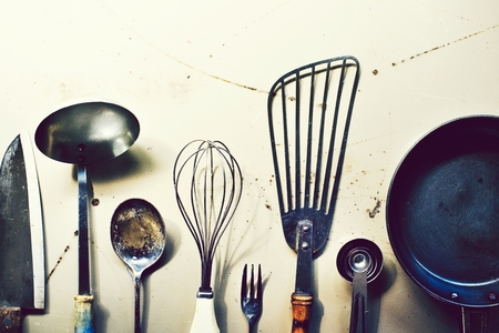 Cooking utensils on a counter top