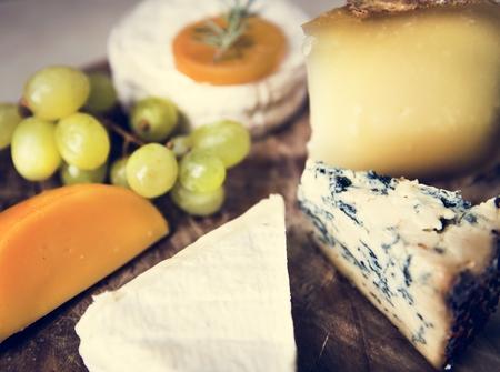 Cheese platter food photography recipe idea Фото со стока
