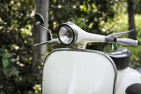 Closeup of a classic vintage scooter