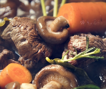 Homemade beef stew food photography recipe idea