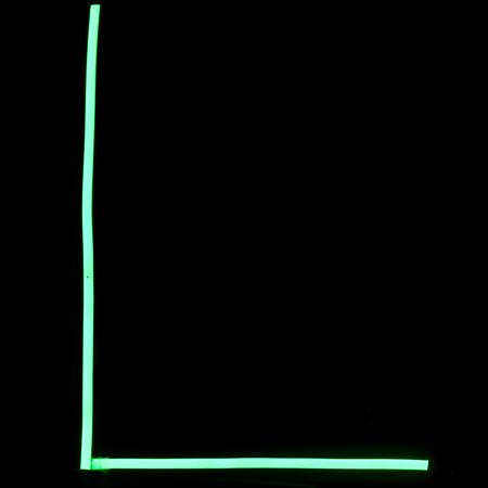 Green neon lights alphabet letters Stock Photo