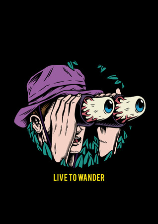 Live to wander creative illustration