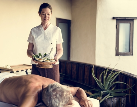 Woman working at a spa