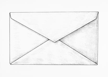 Hand-drawn white letter illustration