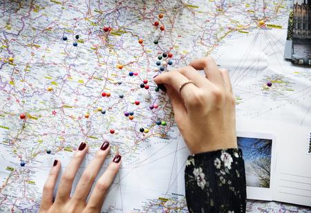 Reiseplanung mit Karte