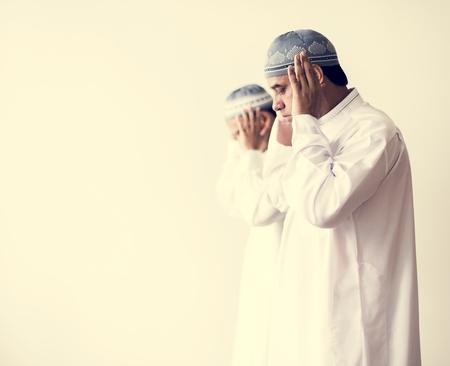 Muslim prayers in Takbiratul-Ihram posture
