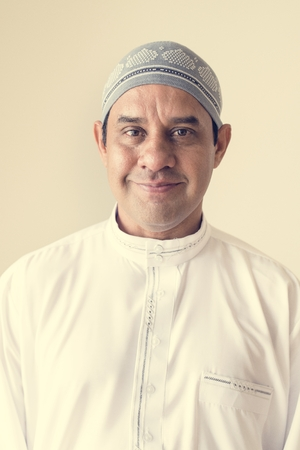 Portrait of a Muslim man Stock Photo