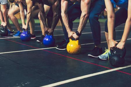Crossfit group at the gym Banco de Imagens - 110553948
