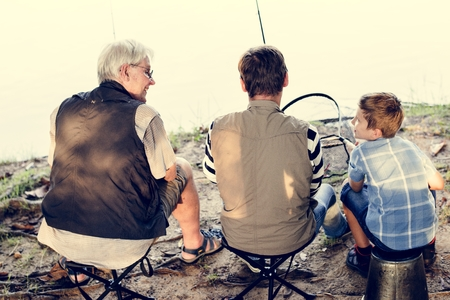 Family on a fishing trip