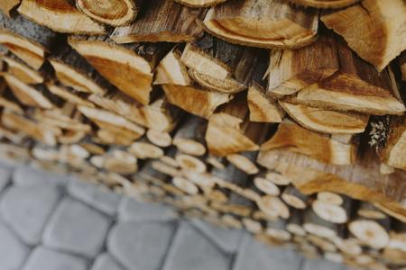 Pile de fond texturé bois de chauffage
