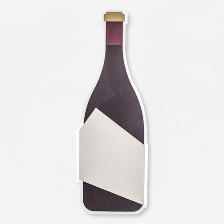 Bottle of champagne icon isolated