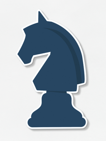 Chess Icon parts vector illustration Zdjęcie Seryjne