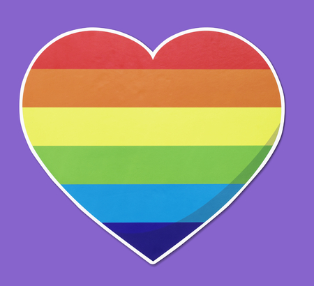 Isolated LGBT heart icon illustration