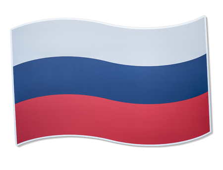 Russian flag icon in white background