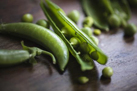 Fresh raw organic green peas