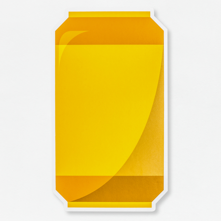 Beer can icon isolated