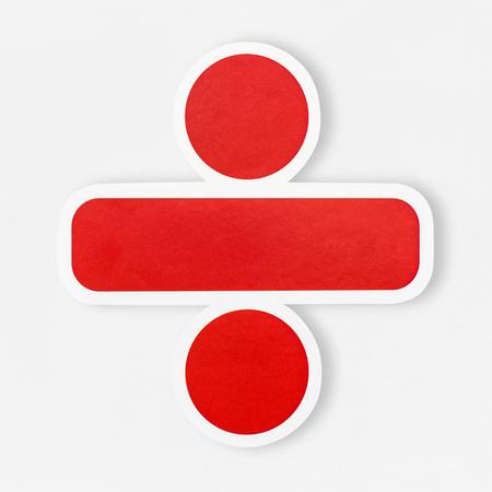 Icona del segno di divisione isolata
