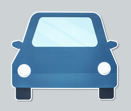 Simple car vector illustration icon