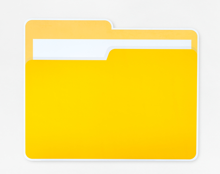 Yellow document folder icon isolated Stok Fotoğraf - 110598139
