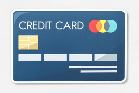 Credit card vector illustration icon Banco de Imagens