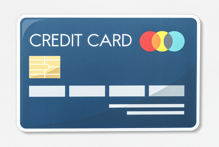Credit card vector illustration icon Stock Photo