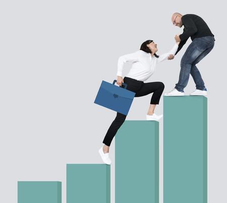 Success through leadership and teamwork Reklamní fotografie