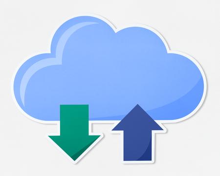 Cloud computing vector illustration icon