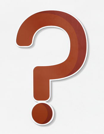 Red question mark vector icon Stock Photo
