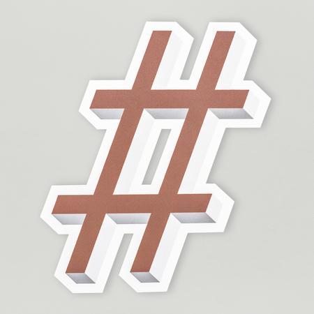 Hashtag symbol # icon isolated Stok Fotoğraf