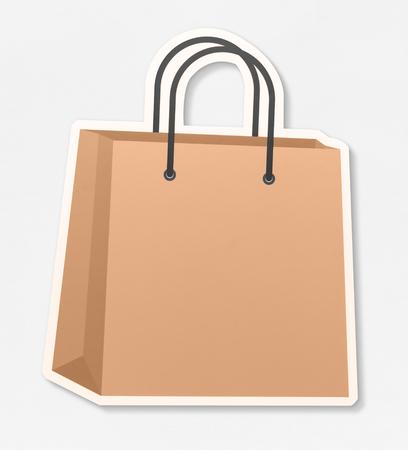 Shopping bag icon on a white background Stock Photo