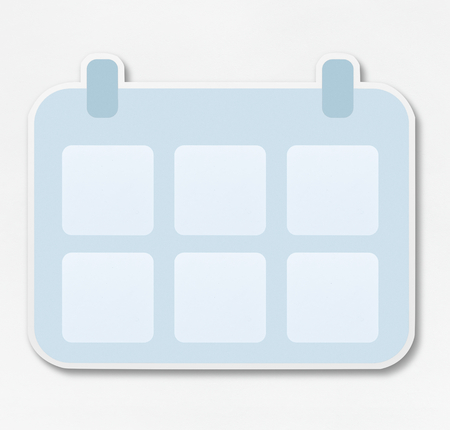 Copy space of a calendar illustration Banco de Imagens