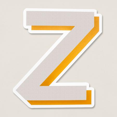 English alphabet letter Z icon isolated