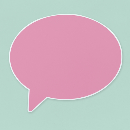 Pink speech bubble icon isolated 写真素材