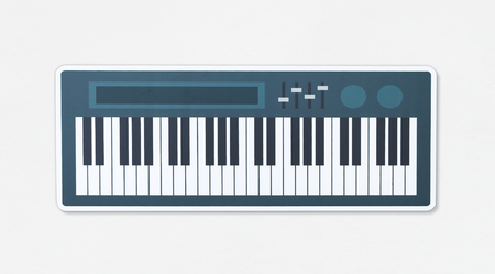 Electronic keyboard musical instrument icon illustration